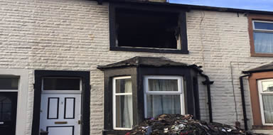 make a home insurance claim for fire damage