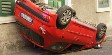 make a home insurance claim when a car has crashed into your house